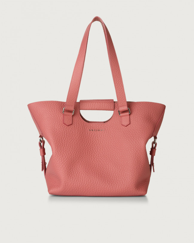 Orciani Isotta Soft leather shoulder bag Leather Bubble pink