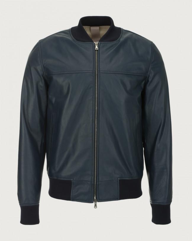 Orciani Nappa leather bomber jacket Leather Blue