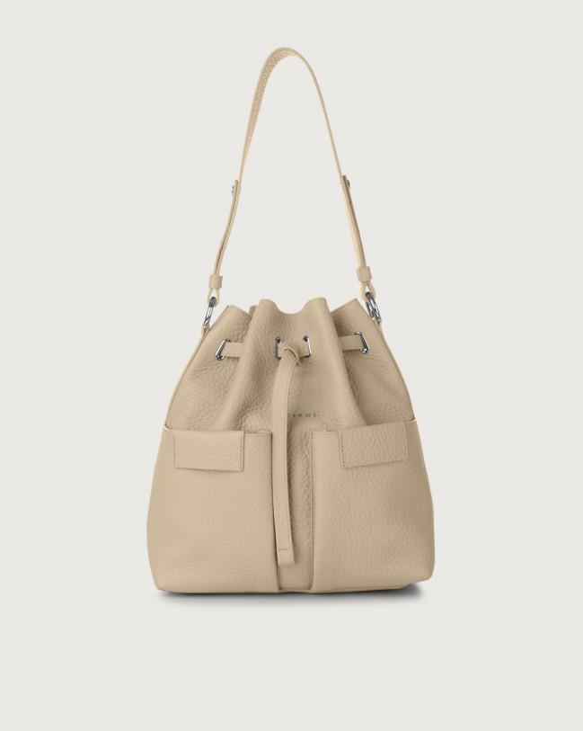 Orciani Tessa Soft medium leather bucket bag Leather Sand