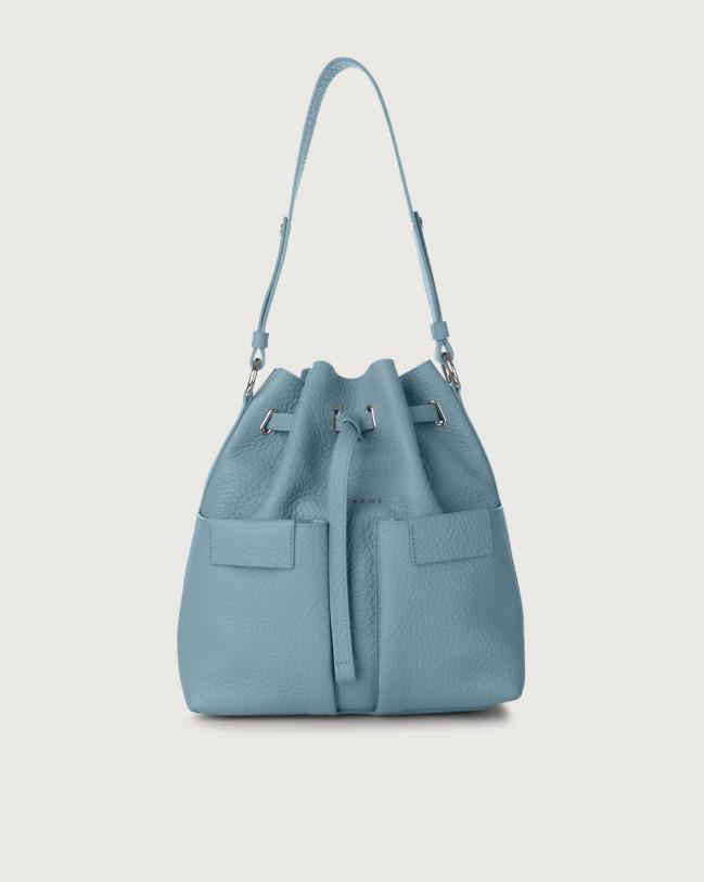 Orciani Tessa Soft medium leather bucket bag Leather Light blue