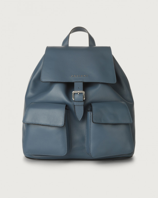 Orciani Charlotte Liberty leather backpack Leather Denim