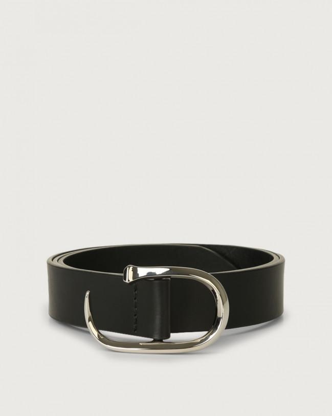Orciani Bull leather belt Leather Black