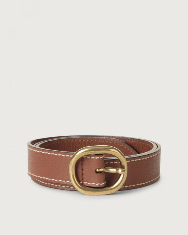 Orciani Fanty leather belt Leather Cognac