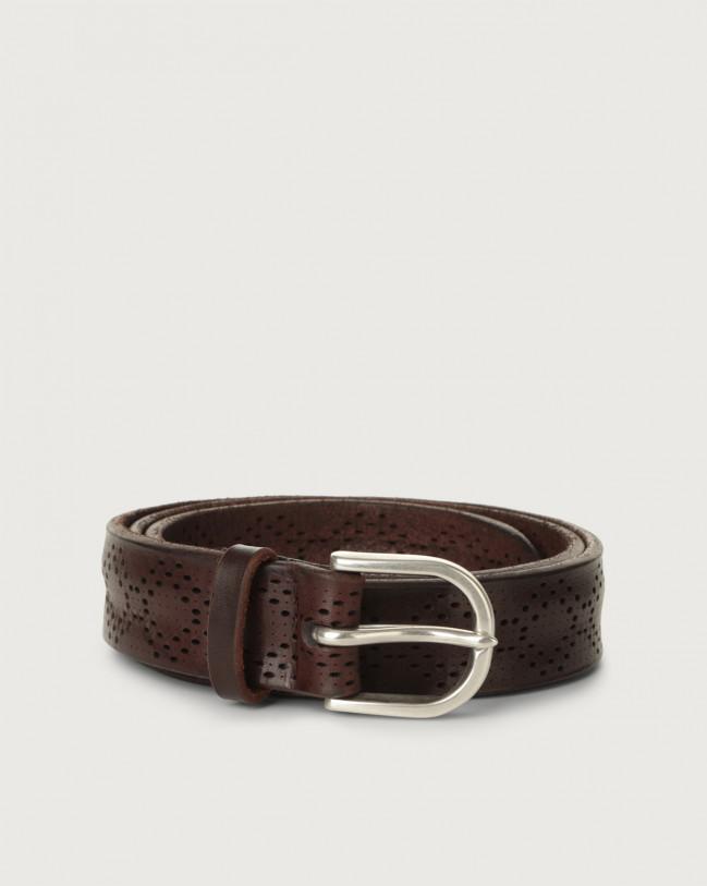 Orciani Bull Soft leather belt Leather Chocolate