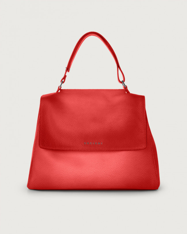 Orciani Sveva Vanish One medium leather shoulder bag Leather Red