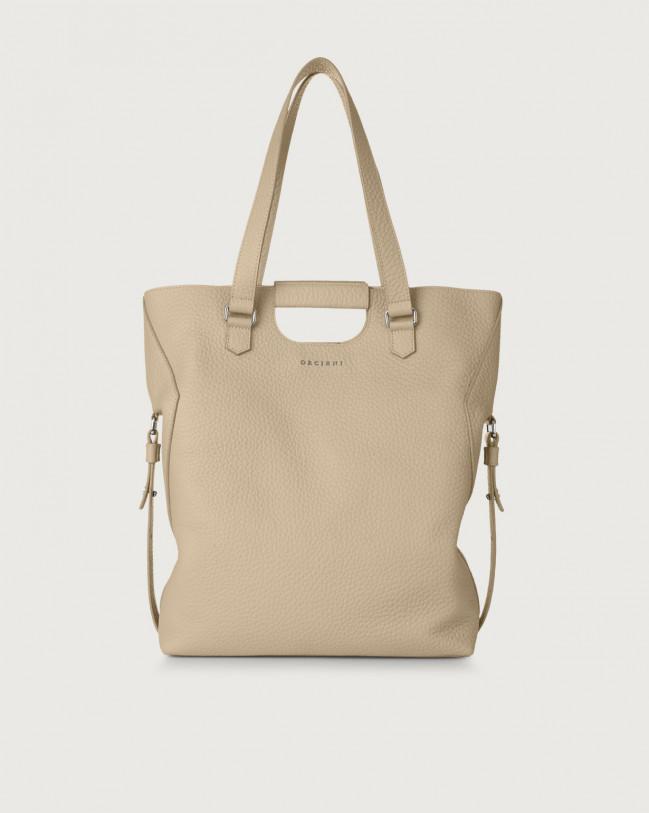 Orciani Isotta Soft large leather shoulder bag Leather Sand