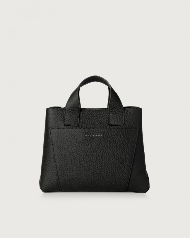 Orciani Nora Soft leather handbag Leather Black
