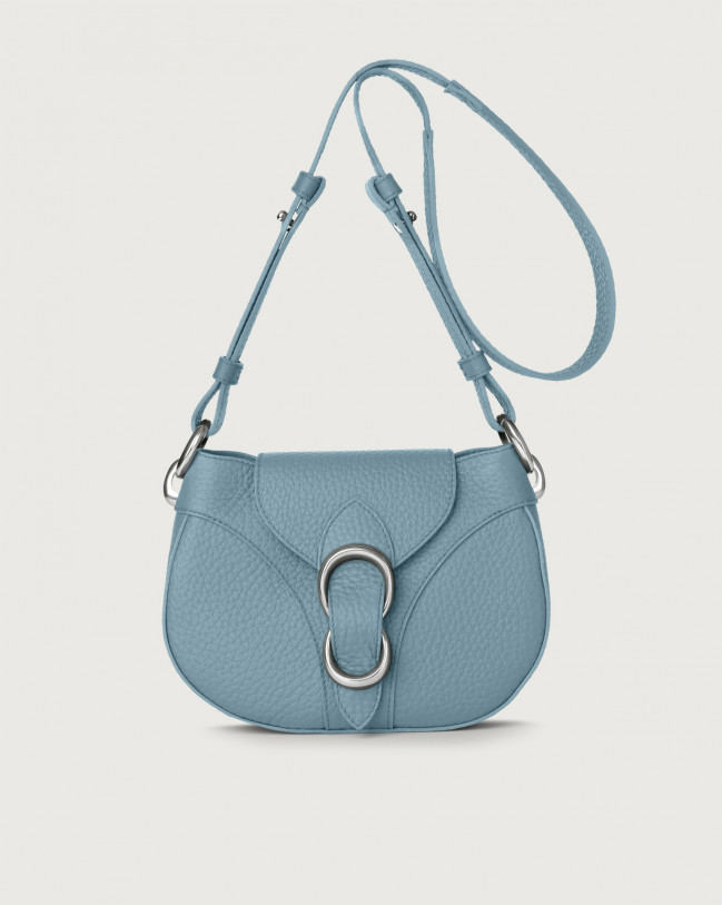 Orciani Beth Soft leather crossbody bag Leather Light blue