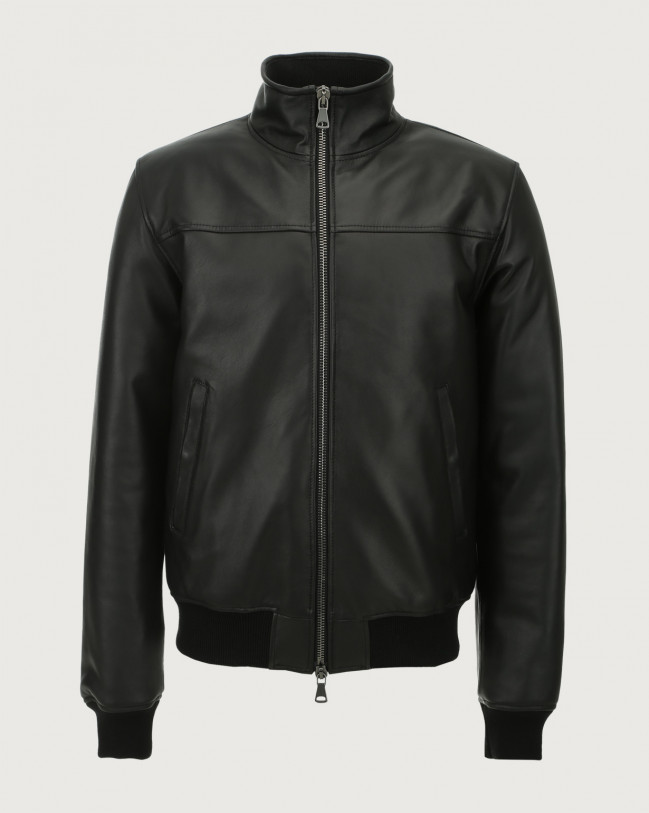 Orciani Nappa leather jacket Leather Black