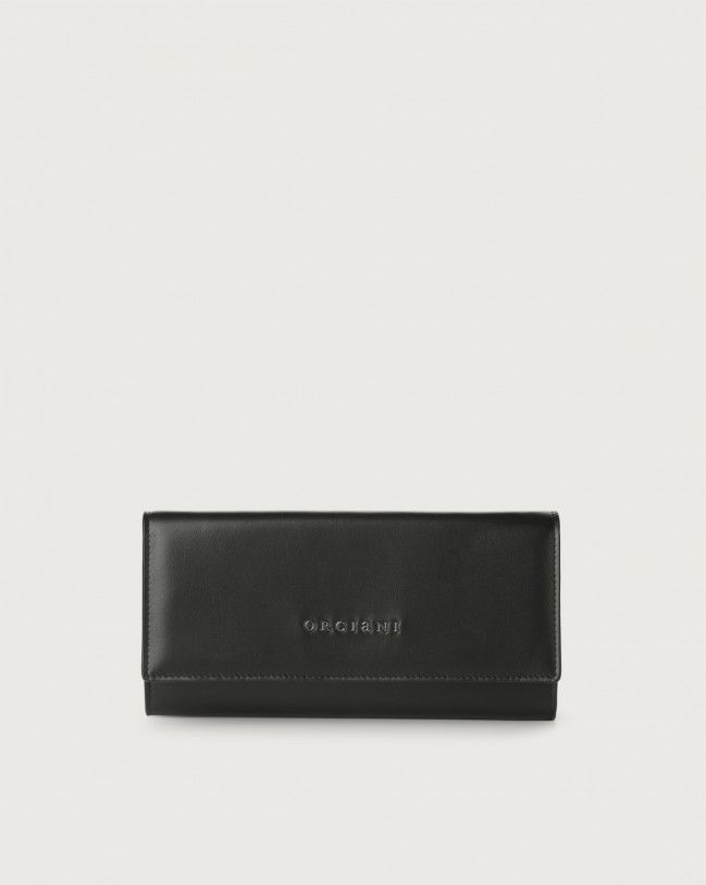 Orciani Liberty leather envelope wallet Leather Black