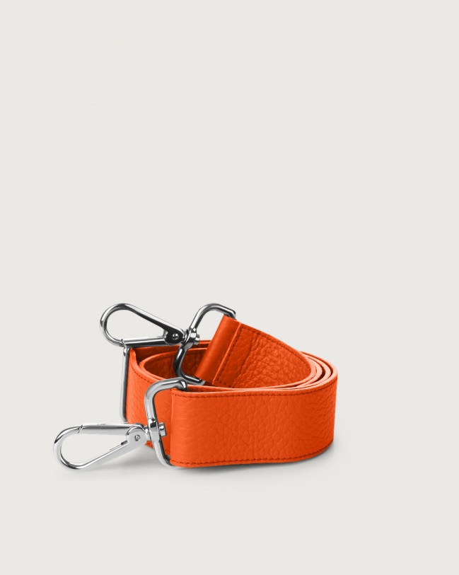 Orciani Soft adjustable leather strap Leather Orange