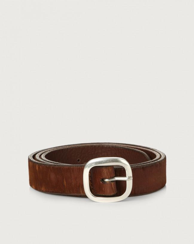 Orciani Cutting leather belt 3 cm Leather Cognac