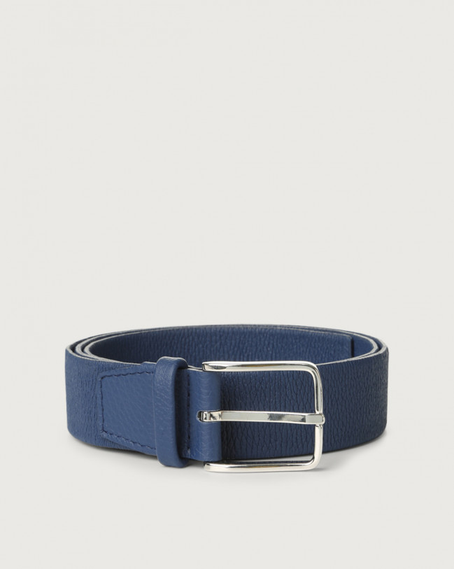 Orciani Micron stretch leather belt Leather Blue