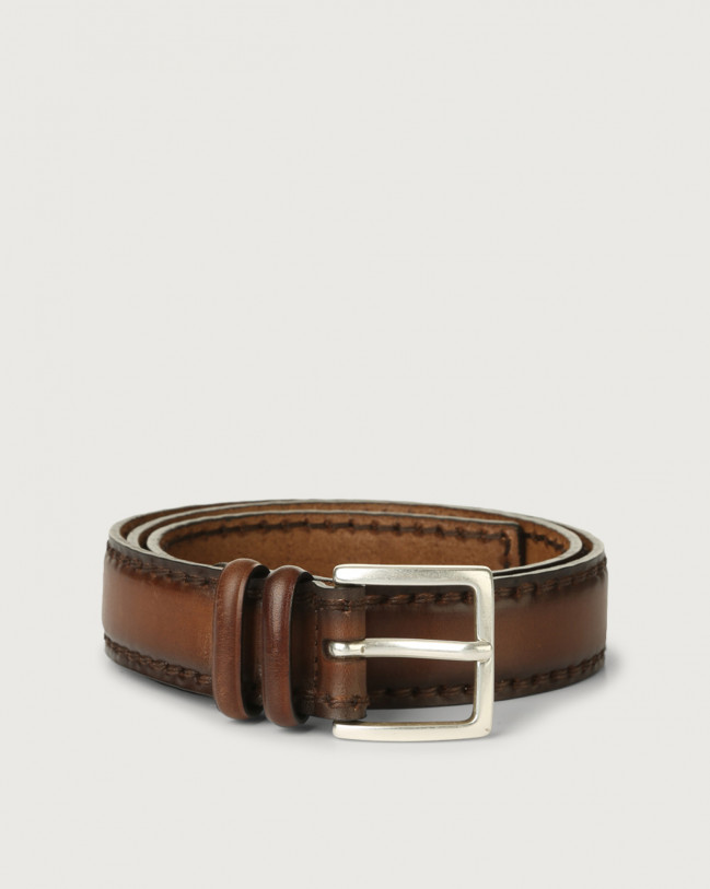 Orciani Buffer leather belt Leather Cognac
