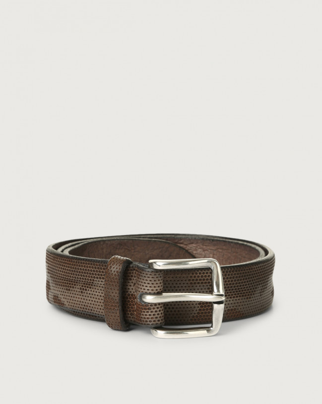 Orciani Stain leather belt Leather Grey