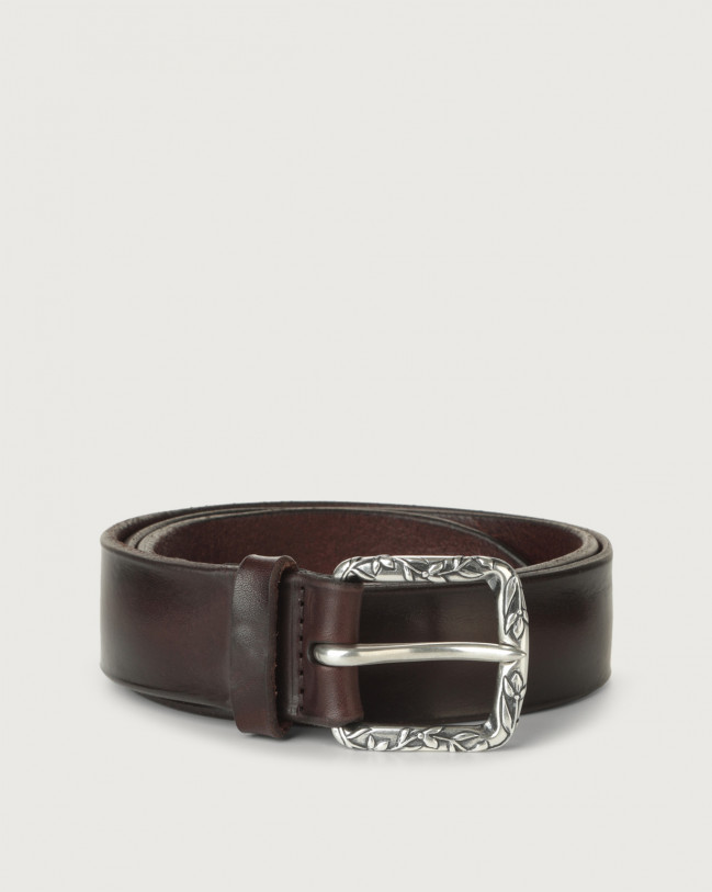 Orciani Bull Soft B leather belt Leather Chocolate