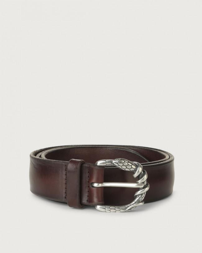 Orciani Bull Soft E leather belt Leather Chocolate