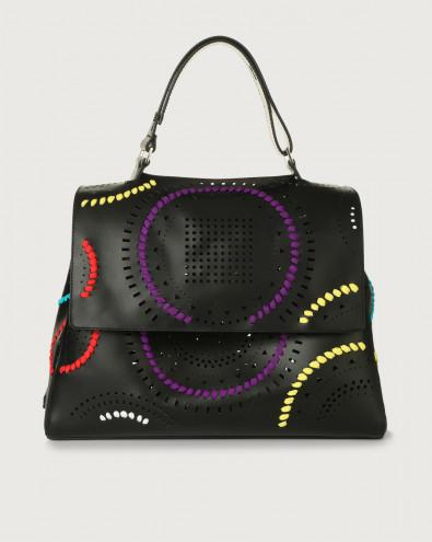 Sveva Carioca large leather shoulder bag