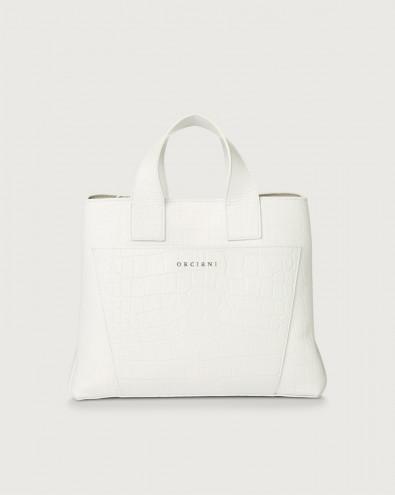 Nora Kindu croc-effect leather handbag