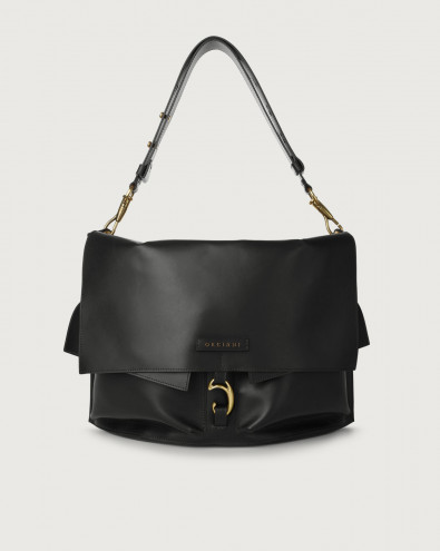 Scout Piuma leather shoulder bag