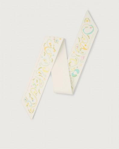 Letter leather foulard