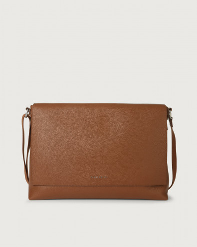 Micron leather messenger bag
