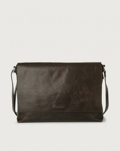 Artik leather messenger bag