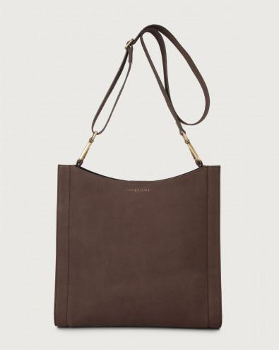 Iris Alicante nabuck leather crossbody bag
