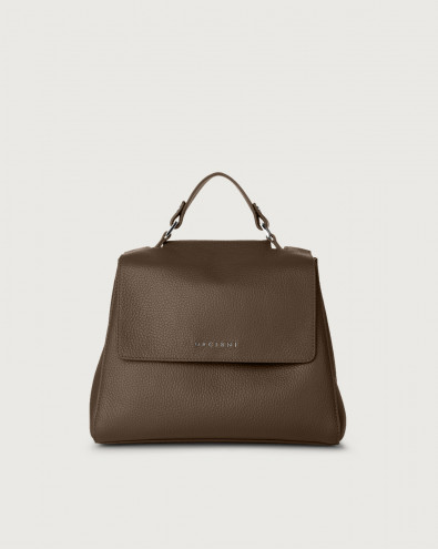 Sveva Micron small leather handbag with strap