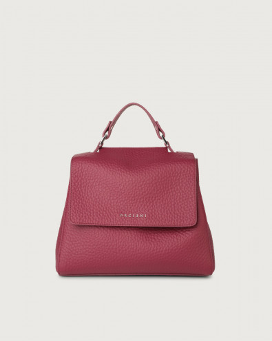 Sveva Soft small leather handbag with strap