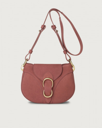 Beth Alicante nabuck leather crossbody bag