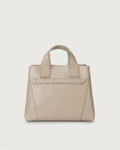 Nora Big Mesh leather handbag