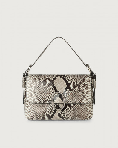 Soho Diamond python leather baguette bag with strap
