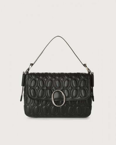 Soho Matelassé leather baguette bag with strap