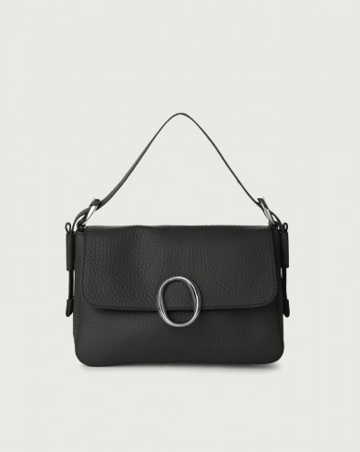 Soho Soft leather baguette bag with strap
