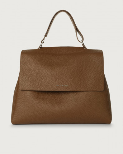 Sveva Soft large leather shoulder bag with strap