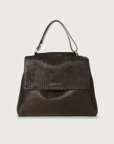 Sveva Cutting medium leather shoulder bag with strap