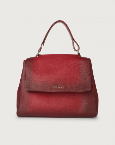 Sveva Micron Deep medium leather shoulder bag with strap