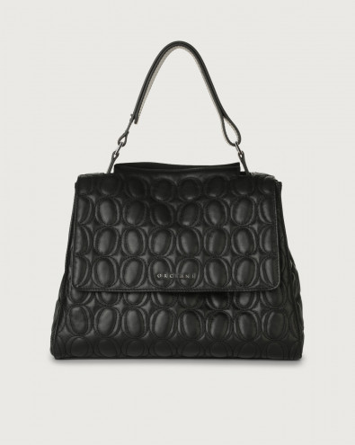Sveva Matelassé medium leather shoulder bag with strap