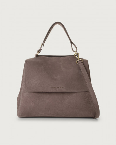 Sveva Alicante medium nabuck leather shoulder bag with strap