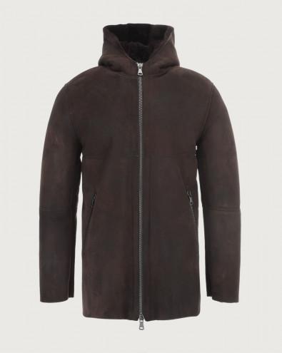 Aspen shearling jacket with hood