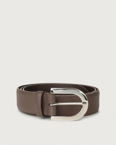 Micron leather belt