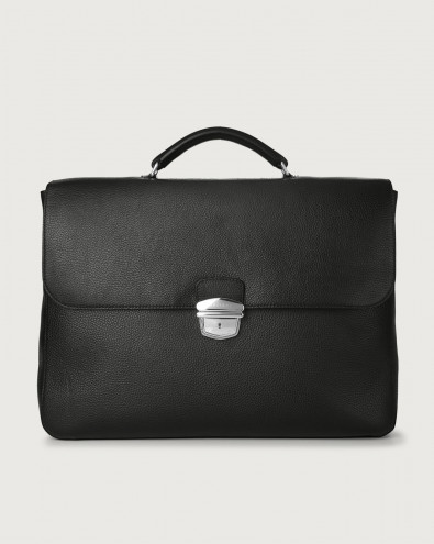 Micron large leather business bag