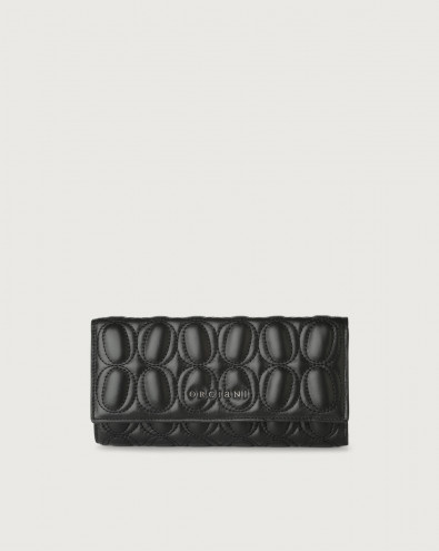 Matelassé leather envelope wallet with RFID