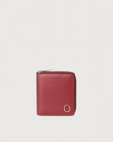 Liberty small leather wallet with zip and RFID