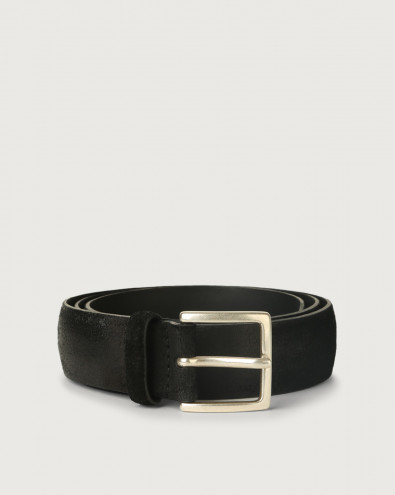 Cloudy suede belt