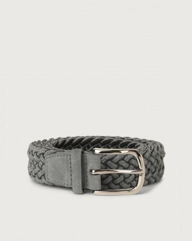Ribbon braided wool stretch belt