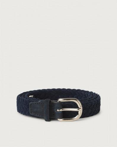 Royal velvet and suede belt 2,5 cm