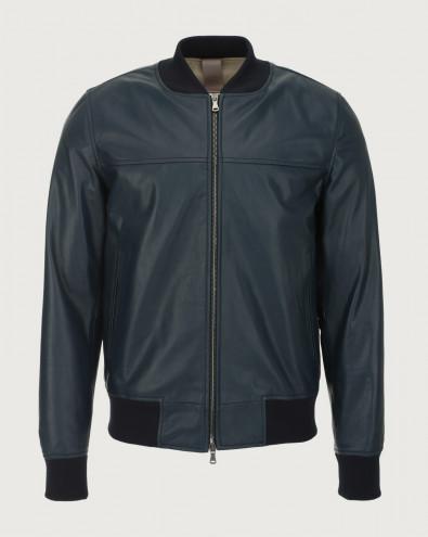Nappa leather bomber jacket