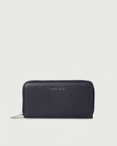 Micron large leather wallet with zip and RFID